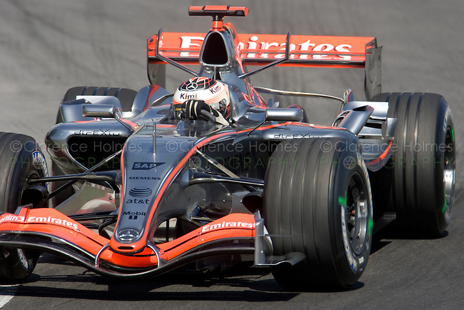 MONTREAL - JUNE 24: Kimi Raikkonen of McLaren Mercedes in the Senna complex of turns 1 and 2 during the practice session on the Saturday of race weekend of the Canadian F1 Grand Prix at the Circuit Gilles-Villeneuve June 24, 2006 in Montreal, Canada.