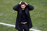 Atletico de Madrid's coach Diego Pablo Cholo Simeone dejected during Spanish Kings Cup semifinal 1st leg match. February 01,2017. (ALTERPHOTOS/Acero)