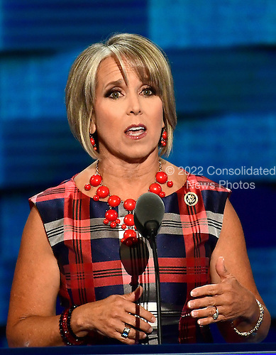 United States Representative Michelle Lujan Grisham (Democrat of New Mexico) makes remarks during the third session of the 2016 Democratic National Convention at the Wells Fargo Center in Philadelphia, Pennsylvania on Wednesday, July 27, 2016.<br /> Credit: Ron Sachs / CNP<br /> (RESTRICTION: NO New York or New Jersey Newspapers or newspapers within a 75 mile radius of New York City)