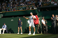 LONDON, ENGLAND - JULY 06: Roger Federer attend day five of the Wimbledon Tennis Championships at the The All England Lawn Tennis Club on July 6, 2018 in London, England<br /> CAP/MPI122<br /> &copy;MPI122/Capital Pictures