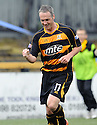 Alloa veteren Robbie Winters celebrates after he scores Alloa's second.