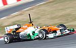 21.02.2012 Barcelona Spain. Formula One testind day1. Sahara Force India F1 Team with German driver Nico Hulkenberg