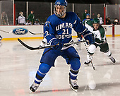Tyler Bishop (UMB - 21) - The UMass Boston Beacons defeated the Babson College Beavers 5-1 on Thursday, January 12, 2017, at Fenway Park in Boston, Massachusetts.