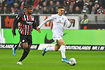 06.10.2019, Commerzbankarena, Frankfurt, GER, 1. FBL, Eintracht Frankfurt vs. SV Werder Bremen, <br /> <br /> DFL REGULATIONS PROHIBIT ANY USE OF PHOTOGRAPHS AS IMAGE SEQUENCES AND/OR QUASI-VIDEO.<br /> <br /> im Bild: Almamy Toure (Eintracht Frankfurt #18), Milot Rashica (SV Werder Bremen #7)<br /> <br /> Foto © nordphoto / Fabisch