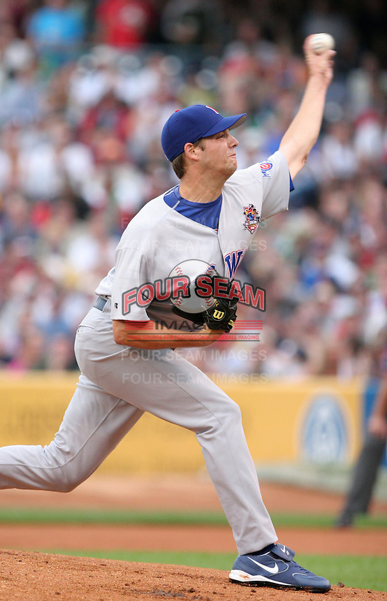 Iowa Cubs pitcher Rich Hill #35 during the Triple-A All-Star Game at Fifth Third Field on July 12, 2006 in Toledo, Ohio.  (Mike Janes/Four Seam Images)