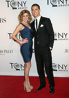 Caissie Levy and Richard Fleeshman at the 66th Annual Tony Awards at The Beacon Theatre on June 10, 2012 in New York City. Credit: RW/MediaPunch Inc.