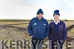 Kevin Madden and Ger Burke from Causeway at the Ballyheigue ploughing match on Sunday.