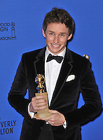 Eddie Redmayne at the 72nd Annual Golden Globe Awards at the Beverly Hilton Hotel, Beverly Hills.<br /> January 11, 2015  Beverly Hills, CA<br /> Picture: Paul Smith / Featureflash