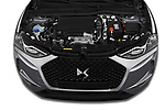 Car stock 2019 DS DS 3 Crossback Grand Chic 5 Door SUV engine high angle detail view