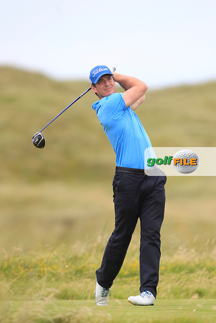 Colin Fairweather (Knock) on the 2nd tee during Matchplay Round 4 of the South of Ireland Amateur Open Championship at LaHinch Golf Club on Saturday 25th July 2015.<br /> Picture:  Golffile | TJ Caffrey