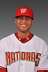 14 March 2008: ..Portrait of Yader Peralta, Washington Nationals Minor League player at Spring Training Camp 2008..Mandatory Photo Credit: Ed Wolfstein Photo
