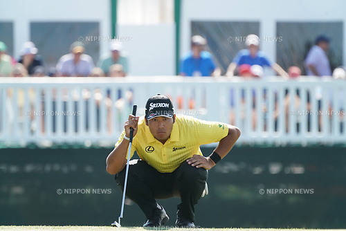 Hideki Matsuyama (JPN), JUNE 16, 2017 - Golf : Hideki Matsuyama of Japan on the 9th hole<br /> during the second round of the 117th U.S. Open Championship at Erin Hills golf course in Erin, Wisconsin, United States.<br /> (Photo by Koji Aoki/AFLO SPORT)