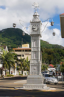 Seychelles, Island Mahe, capital Victoria: Clock Tower