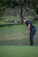 Billy Horschel (USA) putts up on to 2 during Round 4 of the Valero Texas Open, AT&amp;T Oaks Course, TPC San Antonio, San Antonio, Texas, USA. 4/22/2018.<br /> Picture: Golffile | Ken Murray<br /> <br /> <br /> All photo usage must carry mandatory copyright credit (&copy; Golffile | Ken Murray)