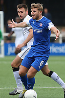 Laurence Maguire of Chesterfield, brother of England and Manchester United's Harry Maguire in action during Bromley vs Chesterfield, Vanarama National League Football at the H2T Group Stadium on 7th September 2019