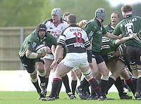 Sport - Rugby 27/04/2002 Parker Pen Shield - Semi-Final.London Irish vs Pontypridd - Kassam Stadium - Oxford.Chris Sheasby attacks the Pontypridd line..[Mandatory Credit, Peter Spurier/ Intersport Images].