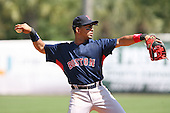 March 17th 2008:  Julio Lugo of the Boston Red Sox during a Spring Training game at Legends Field in Tampa, FL.  Photo by:  Mike Janes/Four Seam Images
