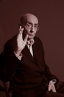 Milan, Italy, 2007. JosÈ Saramago, Portuguese writer, poet and literary critic, Nobel Prize for literature 1998. Author of 'The Gospel According to Jesus Christ', 'Blindness', 'The Year of the Death of Ricardo Reis'.