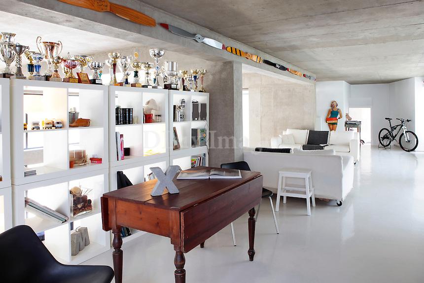 contemporary open plan living room