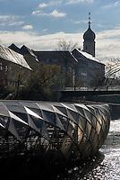 Murinsel in Graz, Steiermark, &Ouml;sterreich<br />  island in the Mur, Graz, Styria, Austria