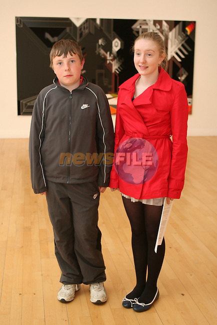 Evan and Grace English at the Droichead Arts Centre...Photo NEWSFILE/Jenny Matthews.(Photo credit should read Jenny Matthews/NEWSFILE)....This Picture has been sent you under the condtions enclosed by:.Newsfile Ltd..The Studio,.Millmount Abbey,.Drogheda,.Co Meath..Ireland..Tel: +353(0)41-9871240.Fax: +353(0)41-9871260.GSM: +353(0)86-2500958.email: pictures@newsfile.ie.www.newsfile.ie.FTP: 193.120.102.198.