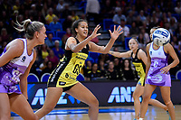 Pulse' Aliyah Dunn in action during the ANZ Premiership - Pulse v Stars at Te Rauparaha Arena, Porirua, New Zealand on Wednesday 3 April 2019. <br /> Photo by Masanori Udagawa. <br /> www.photowellington.photoshelter.com