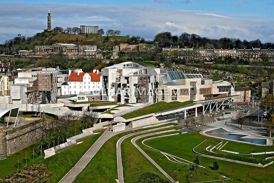 Edifício do Parlamento. Edimburgo, Escócia.2007. Foto de Marcio Nel Cimatti.