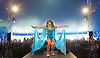 Brighton Pride <br /> parade atmosphere and music in Preston Park, Brighton, East Sussex, Great Britain <br /> 6th August 2016 <br /> <br /> Miss Penny performs at <br /> Brighton Pride <br /> <br /> Photograph by Elliott Franks <br /> Image licensed to Elliott Franks Photography Services