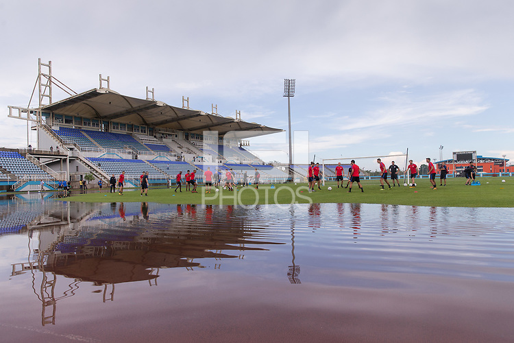 Couva, Trinidad - Monday, October 9, 2017: The USMNT practice at Ato Boldon Stadium before their World Cup Qualifying match against Trinidad on Tuesday.