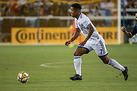 SAN JOSE,  - SEPTEMBER 1: Cristian Higuita #7 of the Orlando City SC during a game between Orlando City SC and San Jose Earthquakes at Avaya Stadium on September 1, 2019 in San Jose, .