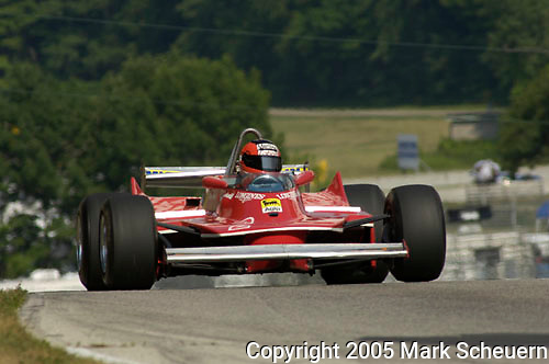 Robert Moeller races his 1980 Ferrari 312 T5 at The Brian Redman International Challenge at Road America, 2005.