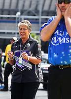 Apr 10, 2015; Las Vegas, NV, USA; NHRA sponsor Terry Chandler during qualifying for the Summitracing.com Nationals at The Strip at Las Vegas Motor Speedway. Mandatory Credit: Mark J. Rebilas-