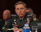 Washington, D.C. - September 10, 2007 -- United States Army General David H. Petraeus, Commander of the Multi-National Force - Iraq (MNF-I) testifies on the future course of the war in Iraq while appearing before a hearing of the United States Senate Foreign Relations Committee, on Capitol Hill in Washington, D.C. on Tuesday, September 11, 2007..Credit: Ron Sachs / CNP.(RESTRICTION: No New York Metro or other Newspapers within a 75 mile radius of New York City)