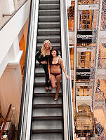 Ultimo founder Michelle Mone, and former Miss Scotland and Nieve Jennings launches newly-refurbished Debenhams store, Glasgow - Scottish bra tycoon Michelle Mone has announced that she has sold most of her stake in lingerie firm Ultimo and bought a fake tan and beauty business.<br />
