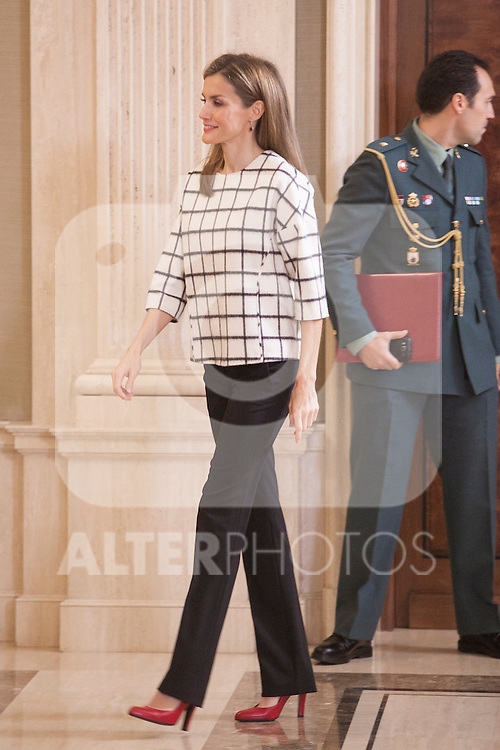 Queen Letizia of Spain attends Royal Audiences at Palacio de la Zarzuela in Madrid, Spain. November 03, 2014. (ALTERPHOTOS/Victor Blanco)