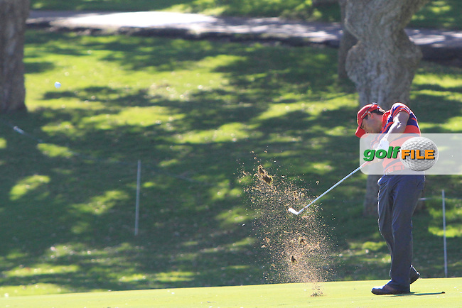 Pablo Larrazabal (ESP) during the 2nd day at the  Andalucía Masters at Club de Golf Valderrama, Sotogrande, Spain. .Picture Denise Cleary www.golffile.ie