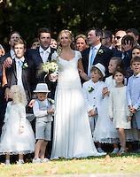 Sandrine Corman se marie avec Michel Bouhoulle - Belgique