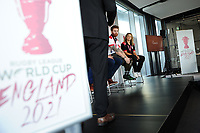 Picture by Simon Wilkinson/SWpix.com 12/07/2017 - International Rugby League - Rugby League World Cup 2021 - RLWC2017 Presentation at Crafthouse Trinity Leeds <br /> <br /> Nigel Wood Jon Dutton Kevin Sinfield James Simpson and Lois Forsell
