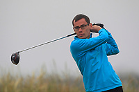 Ian Lynch (Rosslare) on the 1st tee during Round 1 - Matchplay of the North of Ireland Championship at Royal Portrush Golf Club, Portrush, Co. Antrim on Wednesday 11th July 2018.<br /> Picture:  Thos Caffrey / Golffile