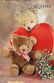 Interlitho, Alberto, CUTE ANIMALS, teddies, photos, 2 teddies, 2 hearts, ro(KL15445,#AC#)