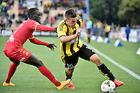 Louis Fenton in action during the A League - Wellington Phoenix v Adelaide United at Hutt Recreational Ground, Lower Hutt, New Zealand on Saturday 7 March 2015. <br /> Photo by Masanori Udagawa. <br /> www.photowellington.photoshelter.com.