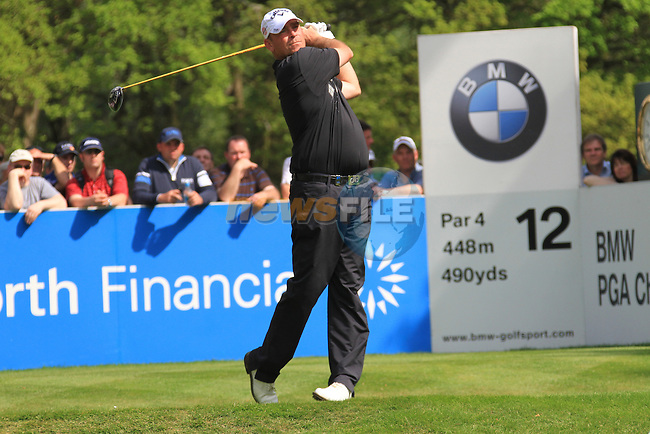 Thomas Bjorn teeing from the 12th.during round two of the BMW PGA championship 2010 at Wentworth golf club, Surrey England..Picture Fran Caffrey/Newsfile.ie