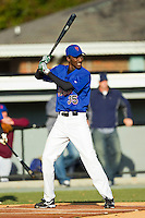 Akeem Bostick (35) of West Florence High School takes bating practice at the 2012 South Atlantic Border Battle on November 3, 2012 in Burlington, North Carolina.  The Mets (SC13) defeated the Red Sox (NC 13) 3-2.  (Brian Westerholt/Four Seam Images)