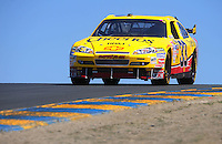 Jun. 21, 2009; Sonoma, CA, USA; NASCAR Sprint Cup Series driver Clint Bowyer during the SaveMart 350 at Infineon Raceway. Mandatory Credit: Mark J. Rebilas-