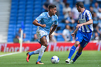 Jamie Murphy of Brighton & Hove Albion (Right) during the Friendly match between Brighton and Hove Albion and Lazio at the American Express Community Stadium, Brighton and Hove, England on 31 July 2016. Photo by Edward Thomas / PRiME Media Images.