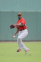 Boston Red Sox outfielder Manuel Margot (48) during an Instructional League game against the Minnesota Twins on September 26, 2014 at jetBlue Park at Fenway South in Fort Myers, Florida.  (Mike Janes/Four Seam Images)