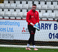 Lincoln City's Grant Smith during the pre-match warm-up<br /> <br /> Photographer Andrew Vaughan/CameraSport<br /> <br /> The EFL Sky Bet League Two - Stevenage v Lincoln City - Saturday 8th December 2018 - The Lamex Stadium - Stevenage<br /> <br /> World Copyright © 2018 CameraSport. All rights reserved. 43 Linden Ave. Countesthorpe. Leicester. England. LE8 5PG - Tel: +44 (0) 116 277 4147 - admin@camerasport.com - www.camerasport.com