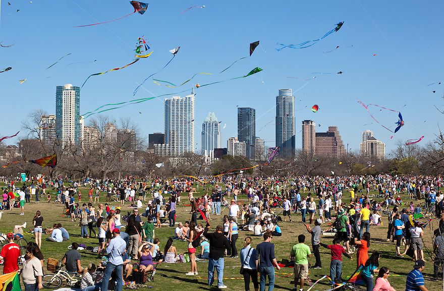 Held each year in March, the Zilker Park Kite Fest is one of Austin's most beloved, family-friendly traditions. The Zilker Park Kite Fest boasts day-long activities for all ages, including the traditional kite flying contest and showcase, a fun run and MossFest, a children's music concert. Founded as a simple kite contest in 1929, Austin's annual kite festival was designed to foster creativity in children. Now the Zilker Kite Fest is the country's longest running festival of its kind.