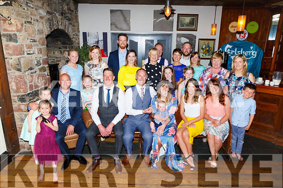 Christening of baby Jamie Lyons from Ballyduff in the Ashe Hotel on on Saturday evening<br /> Seated l-r, Tony Lyons, Sean Dillion, Michael, baby Jamie and Eilish Lyons, Orla Galvin and Caitriona Lyons.