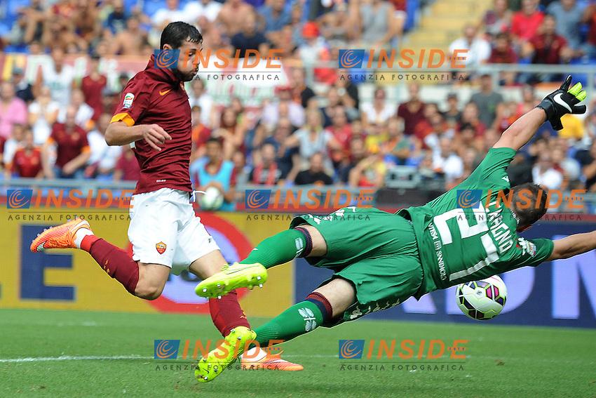 Mattia Destro gol Roma 1-0 Goal celebration <br /> Roma 21-09-2014 Stadio Olimpico, Football Calcio Serie A AS Roma - Cagliari. Foto Andrea Staccioli / Insidefoto